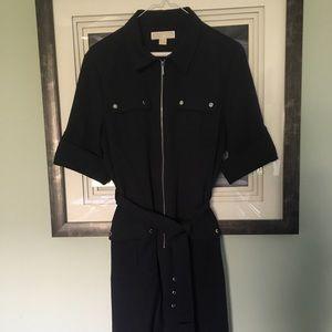 Michael Kors zip front navy blue dress